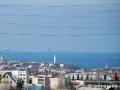 Черные линии на фоне севастопольского пейзажа