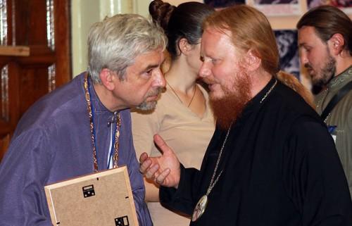 Александр Савичев и епископ Иона Черепанов