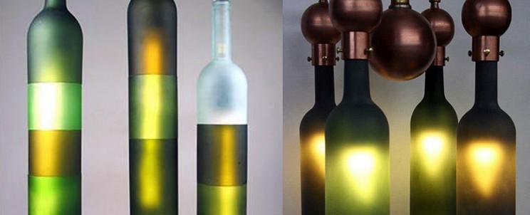 Люстры из бутылок
